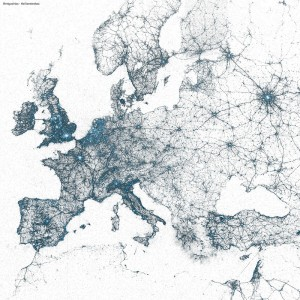 Europe by tweets,  by Miguel Rios @miguelrios