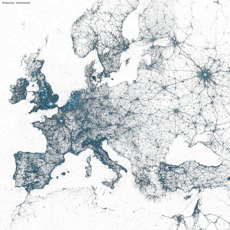 Europe by tweets,  by Miguel Rios @miguelrios
