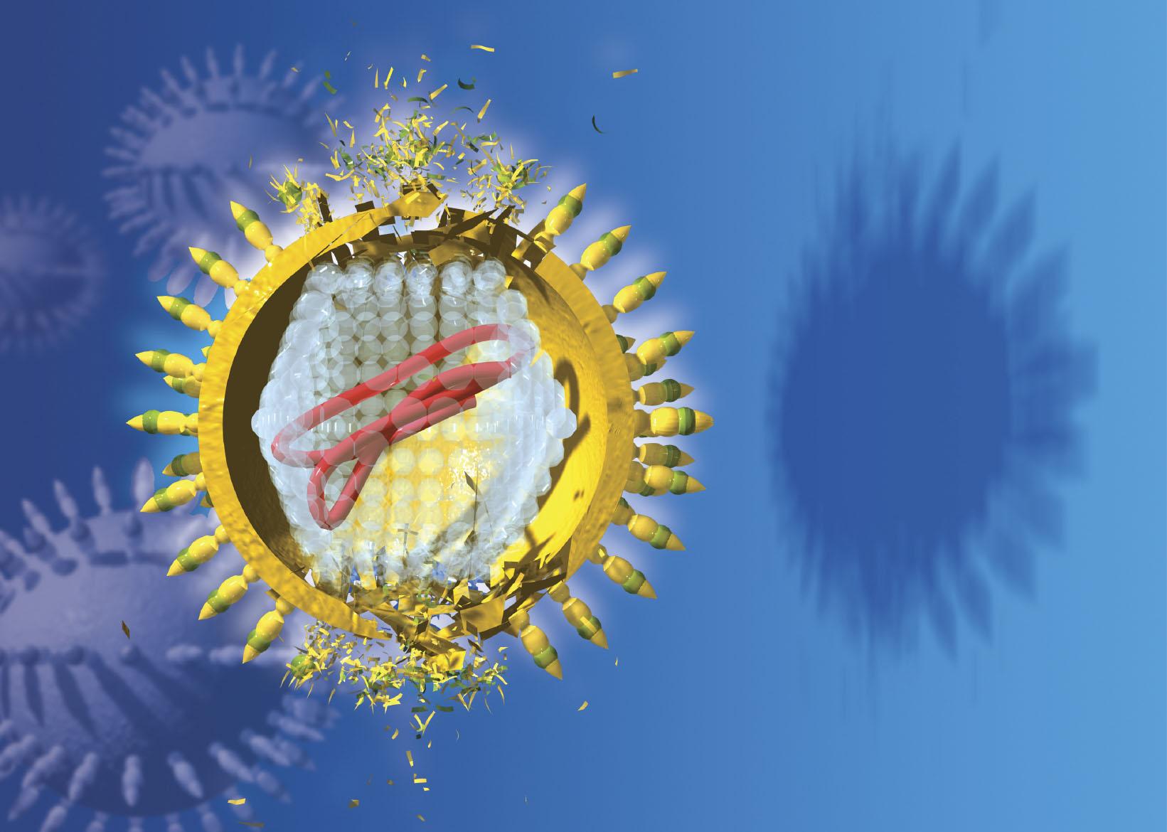 HCV virus exploding (iStock)