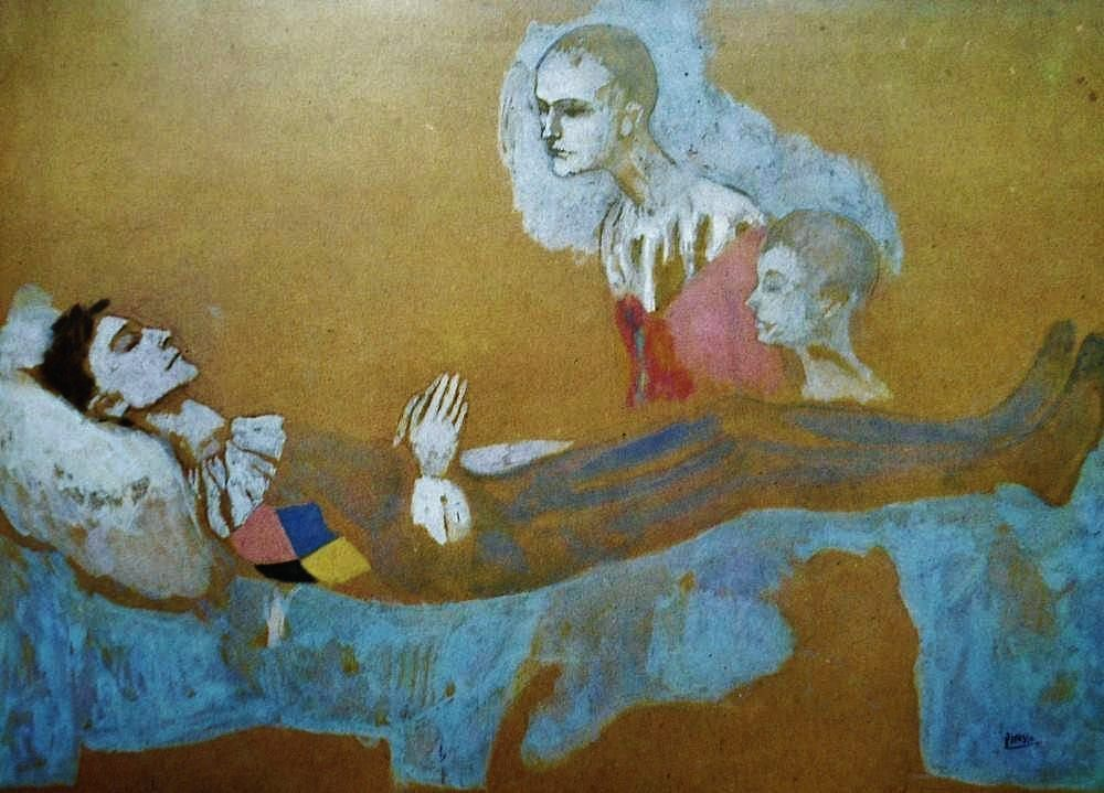 Pablo Picasso - Death of Harlequin. http://cultured.com
